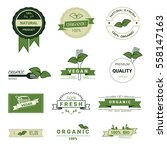 set of organic product  natural ... | Shutterstock .eps vector #558147163