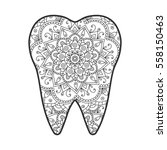 vector illustration of a tooth... | Shutterstock .eps vector #558150463