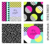 set of four 80's style posters... | Shutterstock .eps vector #558158833