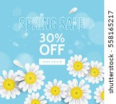 spring sale banner design with... | Shutterstock .eps vector #558165217