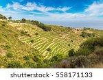 azure coast in a beautiful...   Shutterstock . vector #558171133