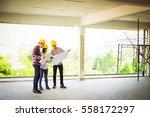 engineer group and worker... | Shutterstock . vector #558172297