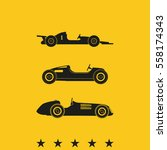set of sport car icons. retro... | Shutterstock .eps vector #558174343