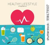 concept of healthy lifestyle... | Shutterstock .eps vector #558175537