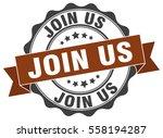 join us. stamp. sticker. seal.... | Shutterstock .eps vector #558194287