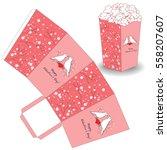 popcorn template for valentine... | Shutterstock .eps vector #558207607