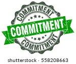 commitment. stamp. sticker.... | Shutterstock .eps vector #558208663