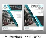 blue flyer cover business... | Shutterstock .eps vector #558210463