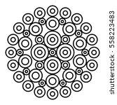 easy black and white mandala... | Shutterstock .eps vector #558223483