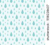 blue rain drops seamless... | Shutterstock .eps vector #558228637