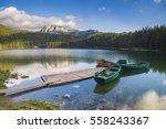 black lake in the national park ... | Shutterstock . vector #558243367