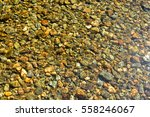 Background Of River Pebbles...