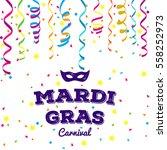 mardi gras traditional symbols... | Shutterstock .eps vector #558252973