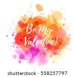 watercolor imitation splash... | Shutterstock .eps vector #558257797