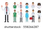 hospital medical staff team... | Shutterstock .eps vector #558266287