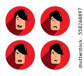 4 basic human emotions and... | Shutterstock .eps vector #558268897