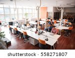 group of young people employee... | Shutterstock . vector #558271807