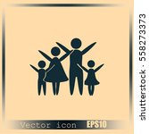 family vector icon | Shutterstock .eps vector #558273373