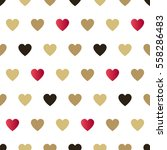 seamless background hearts.... | Shutterstock .eps vector #558286483
