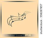 music notes | Shutterstock .eps vector #558287857