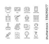 thin line flat conceptual icons.... | Shutterstock .eps vector #558290077