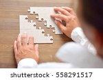 close up of businessman hands... | Shutterstock . vector #558291517