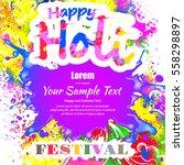 happy holi  a spring festival... | Shutterstock .eps vector #558298897