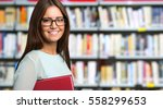 portrait of a smiling student... | Shutterstock . vector #558299653
