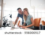 group of young people employee... | Shutterstock . vector #558300517