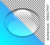 oval drop of water on...   Shutterstock .eps vector #558317947