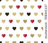 seamless background hearts. | Shutterstock . vector #558341137