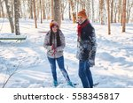 shaking snow outdoor winter... | Shutterstock . vector #558345817