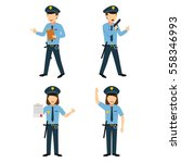 couple of police character... | Shutterstock .eps vector #558346993