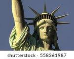closeup of head of statue of... | Shutterstock . vector #558361987
