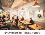restaurant in bokeh  defocused...   Shutterstock . vector #558371893