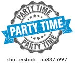party time. stamp. sticker.... | Shutterstock .eps vector #558375997