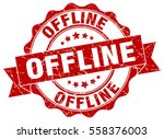 offline. stamp. sticker. seal.... | Shutterstock .eps vector #558376003
