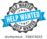 help wanted. stamp. sticker.... | Shutterstock .eps vector #558376033