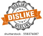 dislike. stamp. sticker. seal.... | Shutterstock .eps vector #558376087