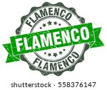 flamenco. stamp. sticker. seal. ... | Shutterstock .eps vector #558376147