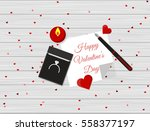 flat design of valentine's day... | Shutterstock .eps vector #558377197