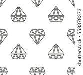 diamonds vector seamless... | Shutterstock .eps vector #558378373