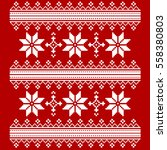 vector cross stitch embroidery... | Shutterstock .eps vector #558380803