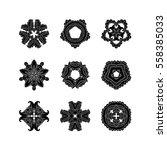 set of ornate vector mandala... | Shutterstock .eps vector #558385033