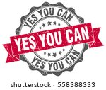 yes you can. stamp. sticker.... | Shutterstock .eps vector #558388333
