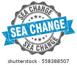 sea change. stamp. sticker.... | Shutterstock .eps vector #558388507