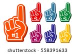 Colorful Foam Fingers Vector...