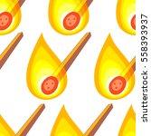 seamless pattern of the burning ... | Shutterstock .eps vector #558393937