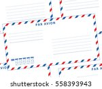 seamless pattern of the airmail ... | Shutterstock .eps vector #558393943