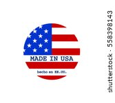 vector made in usa stamp with... | Shutterstock .eps vector #558398143